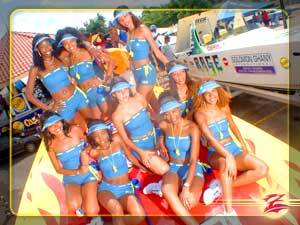 Trinidad Carib Beer Girls